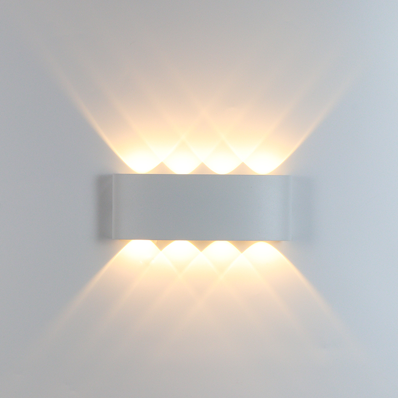LED Up and Down Wall Light,Aluminum Wall Lamp,Bedroom Wall Sconces,Indoor Wall Lighting Light Fixture,6W Warm White