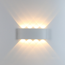 2W 4W 6W 8W LED Wall Lamp Aluminum Bedroom Wall Light Indoor Stair Lighting Engineering Decorative Light Fixture AC90-260V cheap ygfeel Up Down Kitchen Dining room Bed Room Foyer Study ROHS Wedge 220V 110V Acrylic WL215 LED Bulbs Modern Painted Wall Mounted