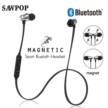 Ear pods Magnetic Wireless Headphone Bluetooth v4.2 Earphone Sport Headset Fone de ouvido For iPhone  Xiaomi Ecouteur Auriculare magnetic attraction bluetooth earphone headset waterproof sports 4.2