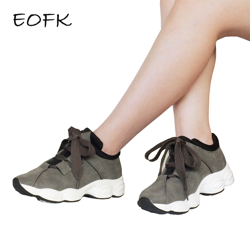 EOFK Women Sneakers Shoes Woman Casual Flats Womens Flat Shoes Autumn Breathable Round Toe Lace-up Grey Teenagers ShoesEOFK Women Sneakers Shoes Woman Casual Flats Womens Flat Shoes Autumn Breathable Round Toe Lace-up Grey Teenagers Shoes