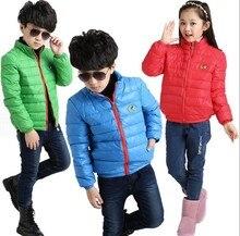Autunm / зима дети в одежда верхняя одежда парки вниз куртка для мальчики и девочки дети в одежда 100 см до 150 см высота