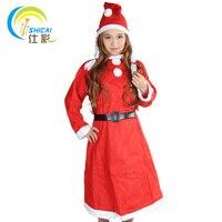 2017 New Fashion Adult Santa Costume Braid Dress Christmas Men Show Dress Women Models Costumes Costume