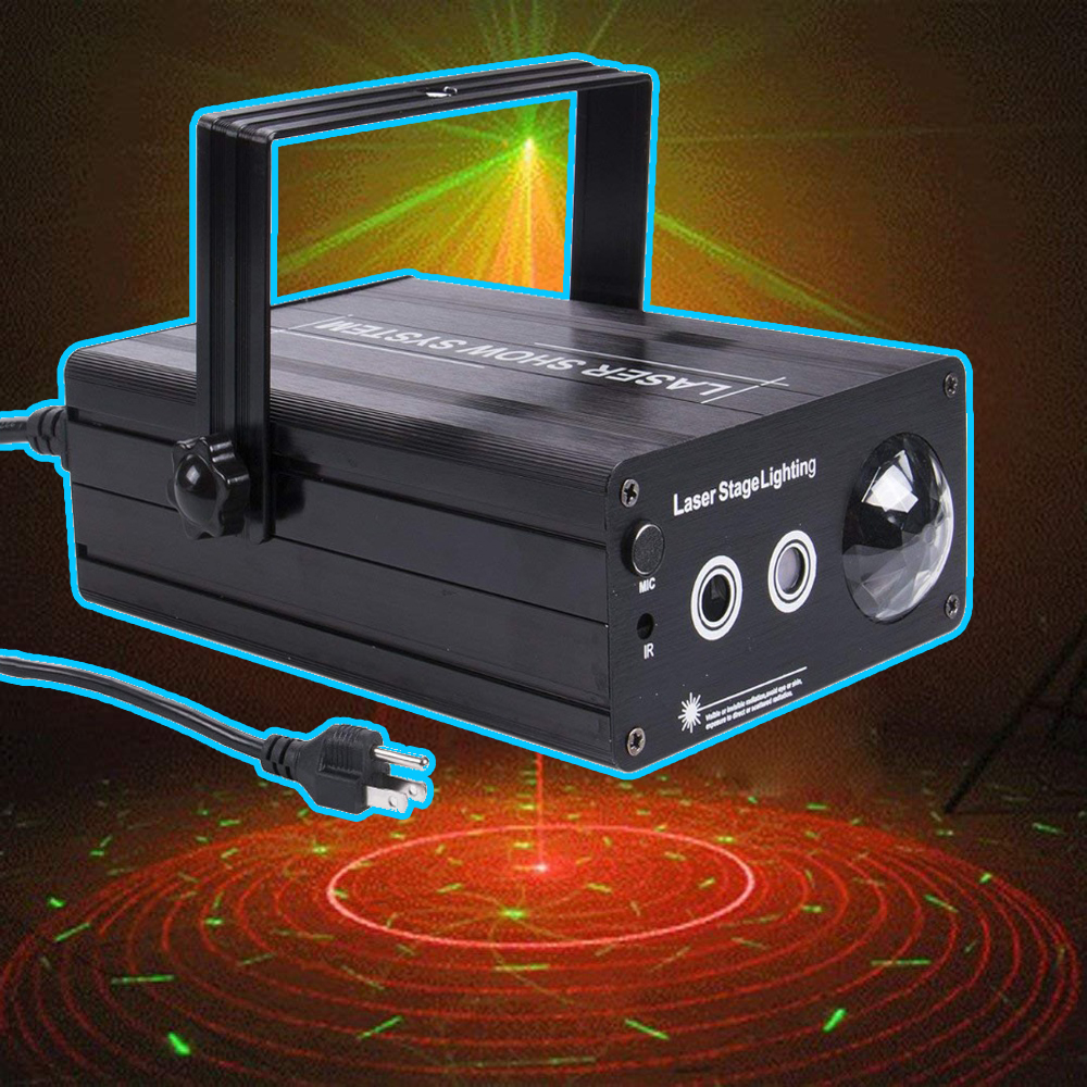 LED Laser Stage Lighting 3 Lens 48 Patterns RG Mini Laser Projector 3W Blue Light Effect Show For DJ Disco Party Lights alien led laser stage lighting 5 lens 96 patterns rg mini laser projector 3w blue light effect show for dj disco party lights