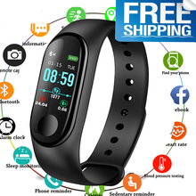 M3plus Smart Wristband Bracelet with Color Screen M3 Plus Band Heart Rate Activity Fitness Tracker Watch