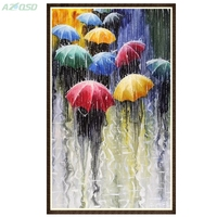 Diamond Painting Embroidery Kit Pictures Of Rhinestones New Needlework Home Decoration Paint Rain And Umbrella Bb1269