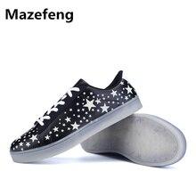 Супер дешевые Новинка! Повседневные туфли унисекс высокого качества Мужская обувь мода любовника флуоресцентный дышащая легкая обувь на шнуровке мужские 031