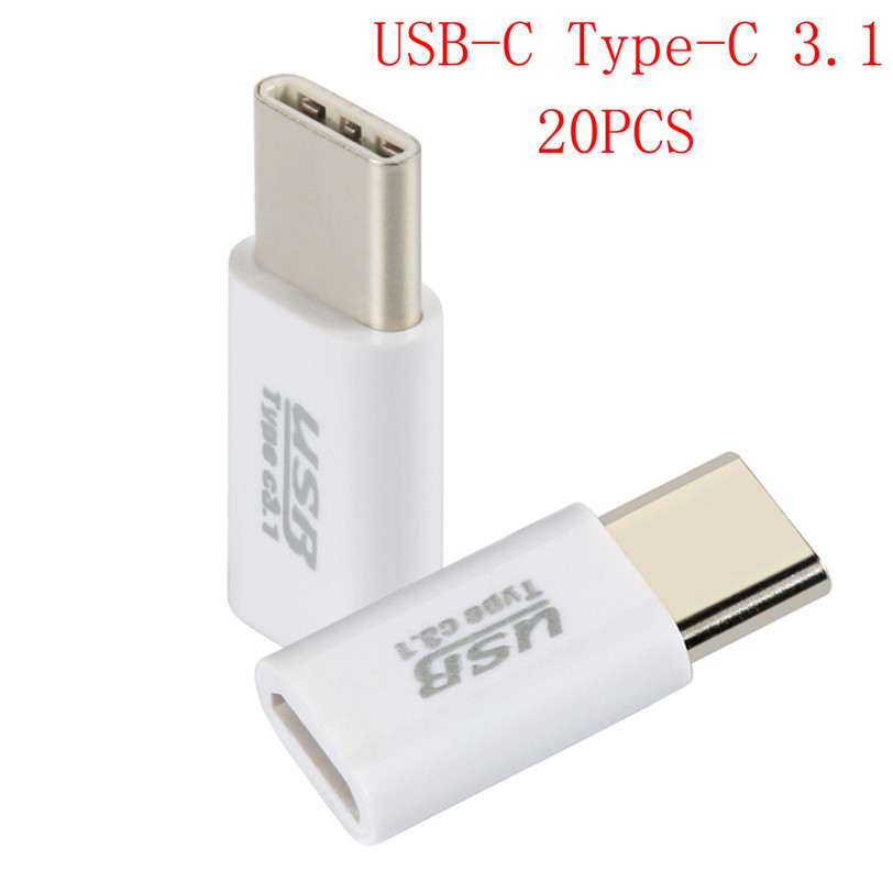 For Samsung Galaxy S8 20PC USB-C Type-C 3.1 To Micro USB Data Charging Adapter For Samsung Galaxy S8