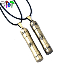 Naruto Konoha Symbol Word Scroll Necklace