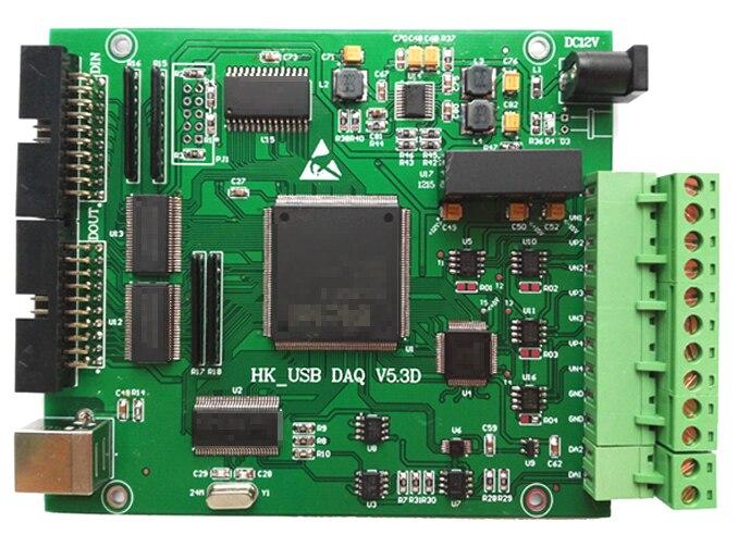 USB Synchronous Data Acquisition -4 Path 16 Bit Synchronous Differential AI, 2 Path AO, PWM Output and Measurement, IO