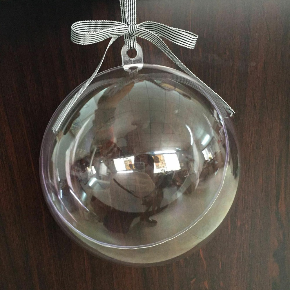 50pcs 40 80mm transparent plastic christmas balls ornaments new years tree decorations jewelry for home house craft supplies in ball ornaments from home - Plastic Christmas Balls