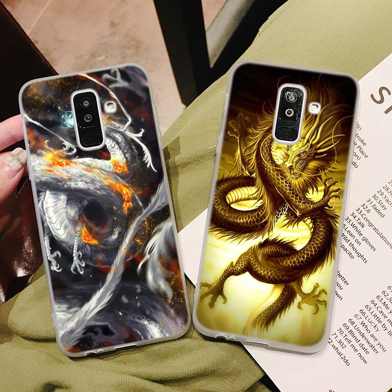 Silicone Phone Case Chinese Dragon Fashion Printing for Samsung Galaxy A8S A9 A8 Star A7 A6 A5 A3 Plus 2018 2017 2016 Cover in Fitted Cases from Cellphones Telecommunications