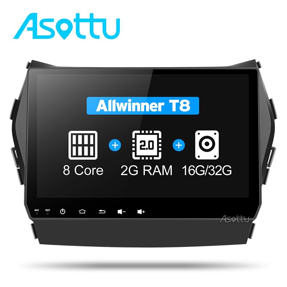 Asottu CIX459060 Android 7.1 T8 Octa Core voiture dvd gps vidéo radio lecteur 2 din pour Hyundai IX45 Santa fe 2013 voiture navigation unité