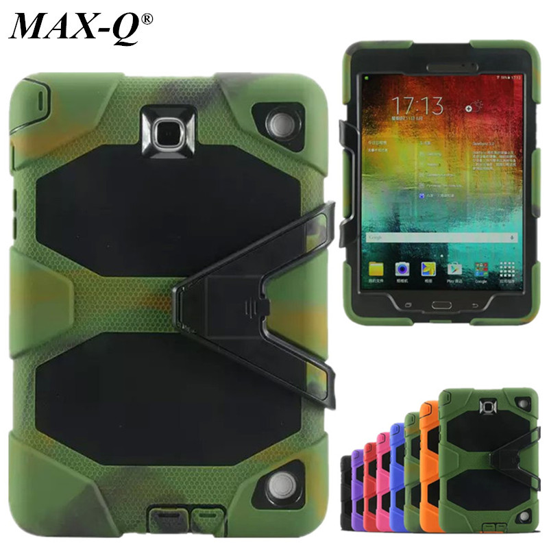 For Samsung Galaxy Tab A 9.7 Case T550 T551 T555 Tablet Silicone Hybrid Rugged Military Shockproof Water Repellent Cover