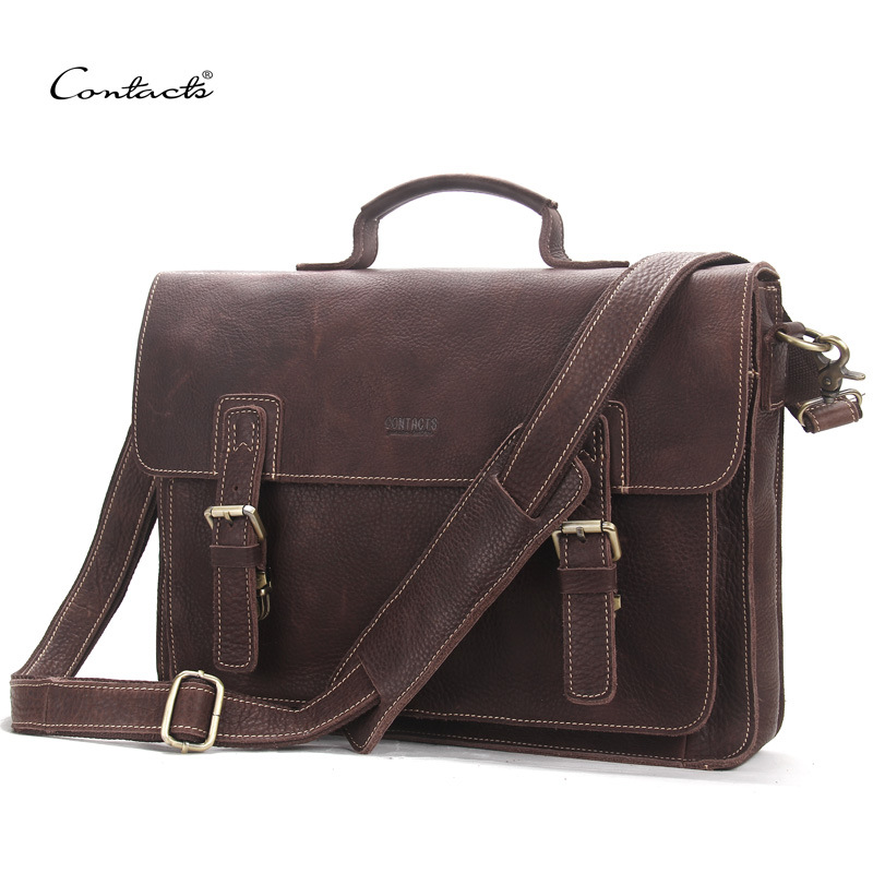 2017 Genuine Leather Men messenger bag Handbag Shoulder Bags Large Capacity Male Handbags Briefcases Laptop Crossbody Bags xiyuan genuine leather handbag men messenger bags male briefcase handbags man laptop bags portfolio shoulder crossbody bag brown