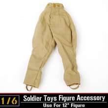 лучшая цена 1/6 Scale Action Figure Clothing Accessory Dragon/DML Toys WWII German Soldiers Pants Trousers For Military Action Figure Body