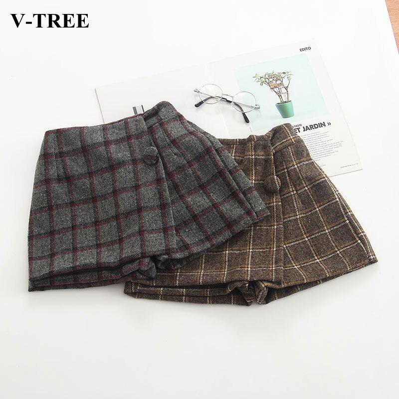 de2f0272638ae Autumn Winter Girls Skirt Plaid Short-skirt For Girl Thicken Children Skirt  Toddler Clothes Children