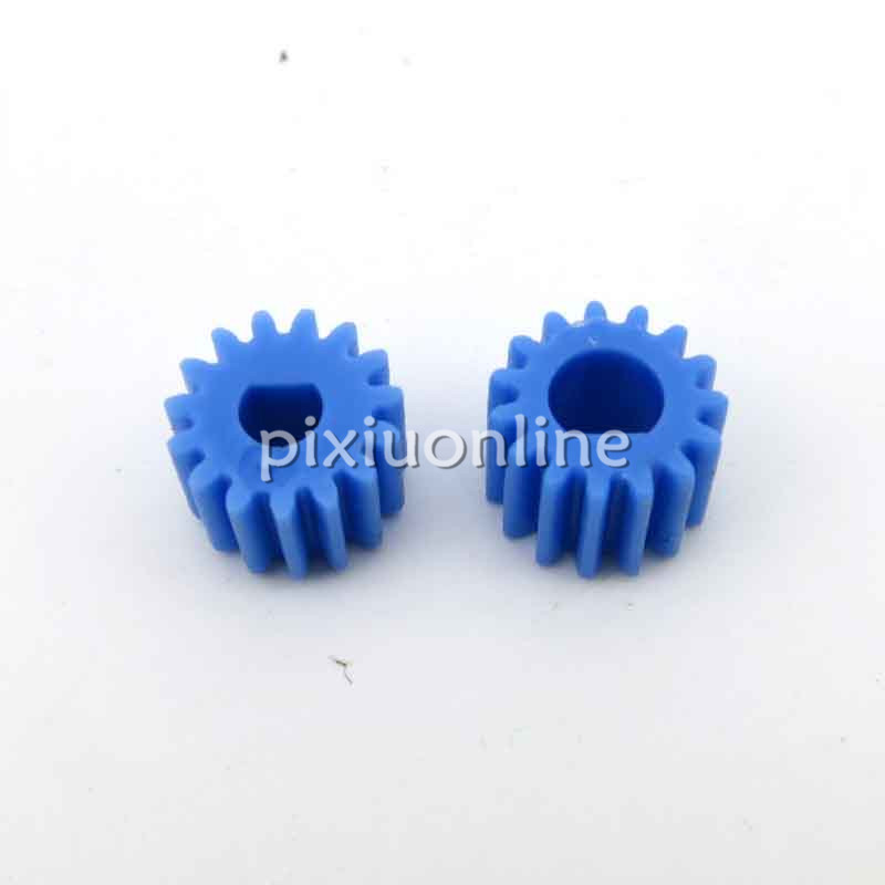 2pcs/lot J043 D Type Plastic Gear 0.5 module 3/4mm fit Gear Motor Cutting Edge Shaft DIY Parts Free Shipping Russia image