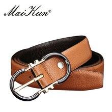 Hohe Qualität Echtes Leder Gürtel für Frauen Luxus Band Männlich Gürtel für Männer Dornschließe Ausgefallene Vintage Jeans Cowskingurt