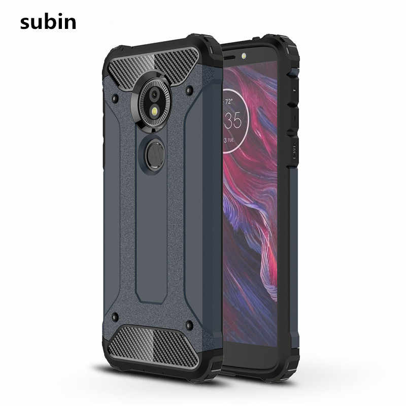 info for 2c336 7bdc9 For Motorola Moto G6 Play case cover funda New Luxury Shockproof bumper  protect For Moto G 6 smartphone case back cover coque