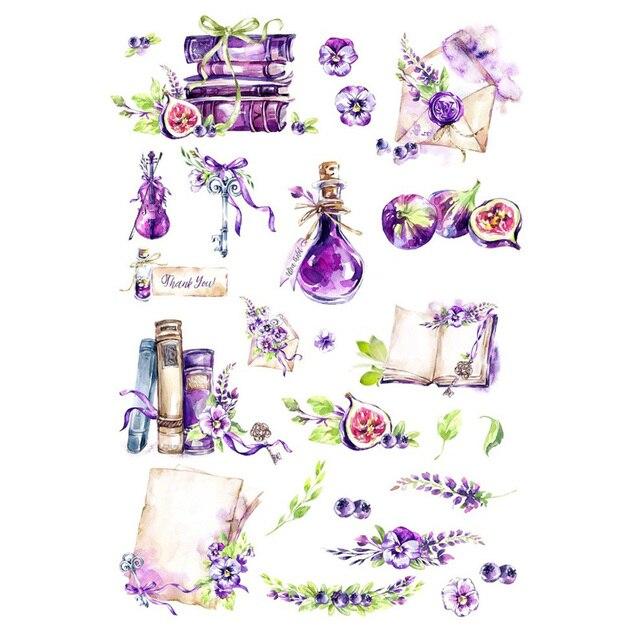 2 unids/lote libro de artículos púrpura DIY Deco álbum de recortes bala diario papelería pegatinas planificador póster Post It Patchwork manualidades suministros