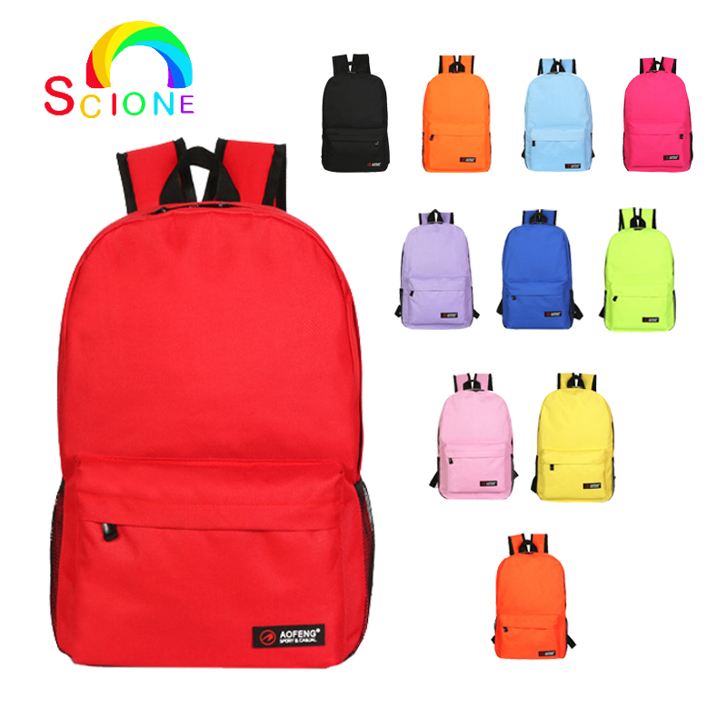 Solid Colorful Waterproof Backpack Multi-color Schoolbag For Women Ladies Female Travel Casual School Girls Boys Gift mochila