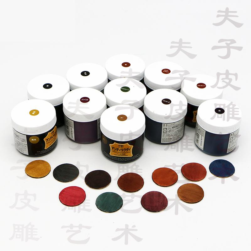 US $18 0 |100ml Japan import CRAFT DIY handmade leather Craft oil dye  Antique carving dye finish Retro vegetable tanned dye-in Water Color from  Office