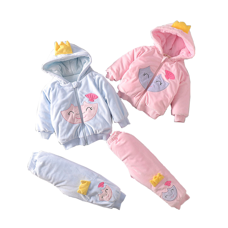 Suit For The Baby Boy Girls Warm Coats Cotton Sets Of Clothes Children's Winter Suit Cchristmas Costumes Clothing For Newborns in the winter of 2016 new products on the market loose big yards thickened cotton linen jacquard women cotton padded clothes