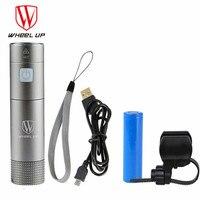 WHeeL UP Mini Usb Rechargeable Bike Light Front Lamp Handlebar Cycling Led Lights Battery Flashlight Torch