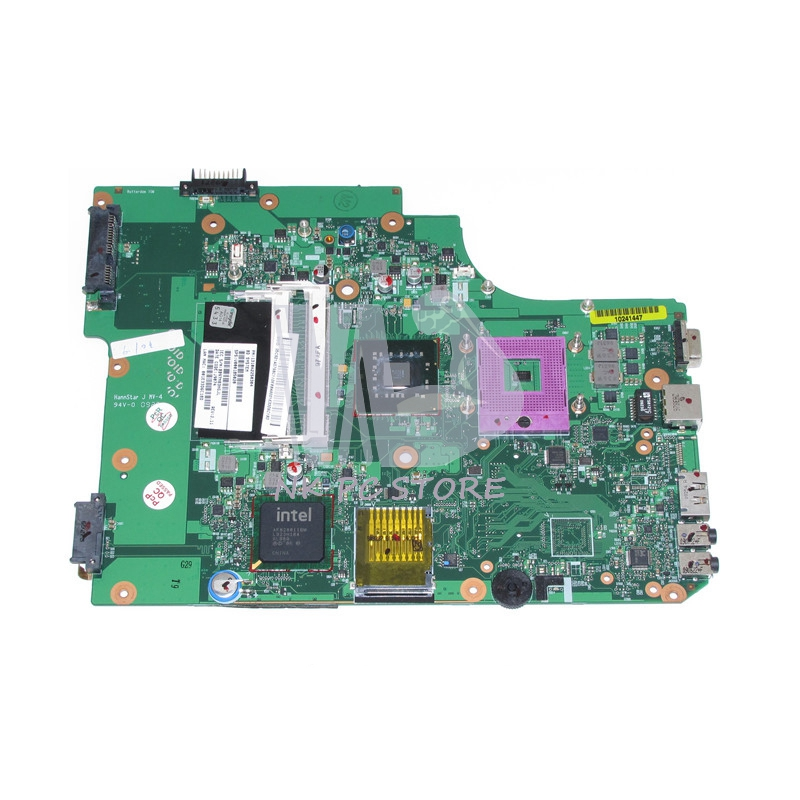 V000185020 Main Board For Toshiba Satellite L500 L505 Laptop Motherboard GM45 DDR2 with Free CPU 815248 501 main board for hp 15 ac 15 ac505tu sr29h laptop motherboard abq52 la c811p uma celeron n3050 cpu 1 6 ghz ddr3