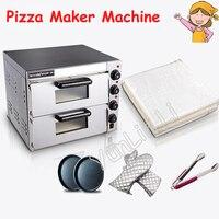 Электрическая стальная мини печь для выпечки/коммерческий термометр двойная печь для пиццы/хлеб/торт духовка PO2PT