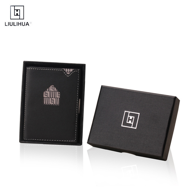 LLH slim leather Special design credit card holder