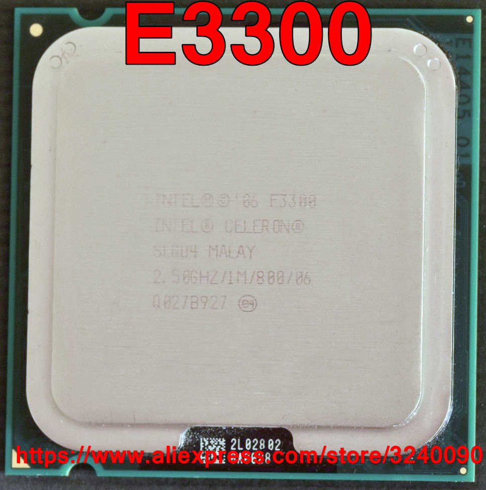 Original Intel CPU Celeron E3300 Processor 2.50GHz/1M/800MHz Dual-Core Socket 775 free shipping speedy ship out