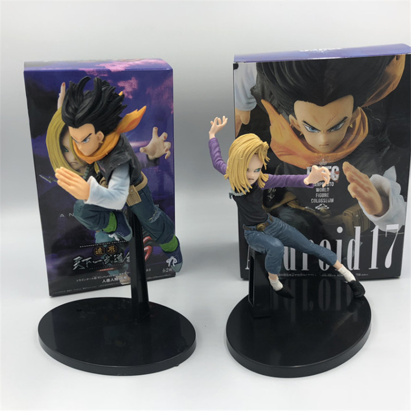 2019 Dragon Ball Z Android 17 Android 18 Lazuli VS Ver. Action Figure DBZ Goku Fighter PVC Collection Model 17cm(China)
