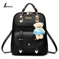 Ladies Charming Backpack Pu Leather School Bags For Teenage Girls Mochilas Women Large Capacity Knapsack Female
