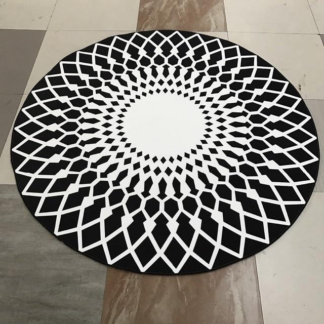 Moderne Geometrie Teppich Runde Schwarz Teppich Runde Teppiche Fur