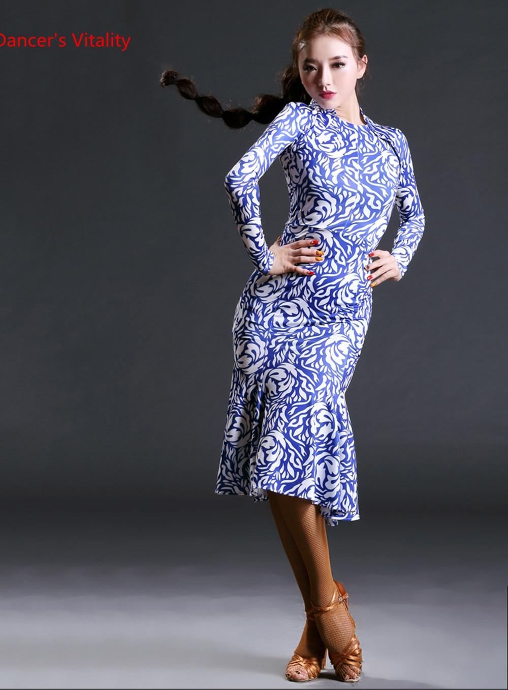 Hcdance 2018 Dancewear Brand Dancewear Latine Women Long Sleeve Flamenco Tango Rumba Ballroom Dance Dress For Women