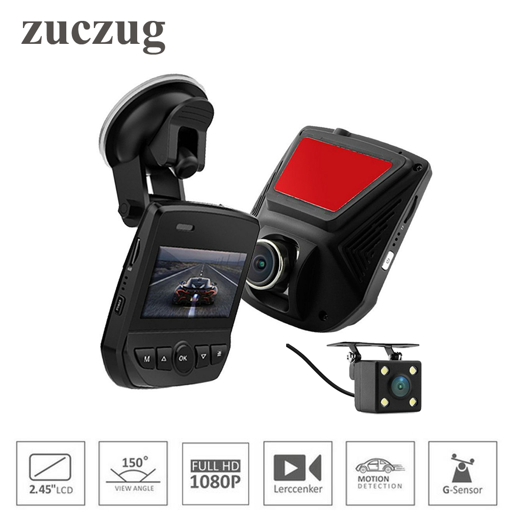 ZUCZUG Mini hidden Dual Lens FHD 1080P Car DVR Novatek 96658 LCD Screen Sony IMX323 Car Video Recorder Dash Cam With Rear Camera bigbigroad for subaru xv wifi car dvr fhd 1080p video recorder hidden installation g sensor novatek 96658 black box dash cam