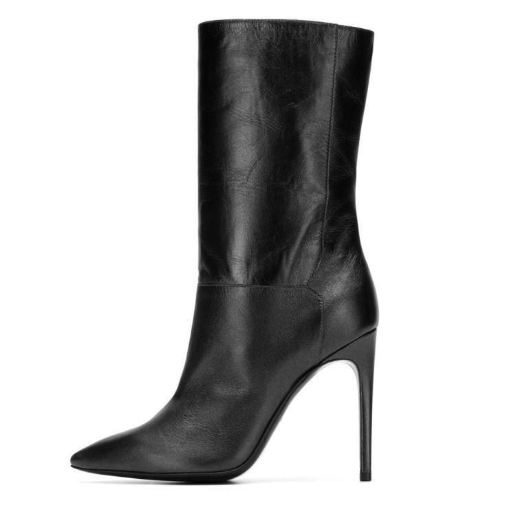 e199b69ce5f9a8 Talons Cheville Femme Noir Chaussures Mode Bout Vert Bottes Dames Piste  vert En Noir De Chaussons Chic Pour Cuir Occident Femmes Hauts Pointu Foncé  nxPqFRIx