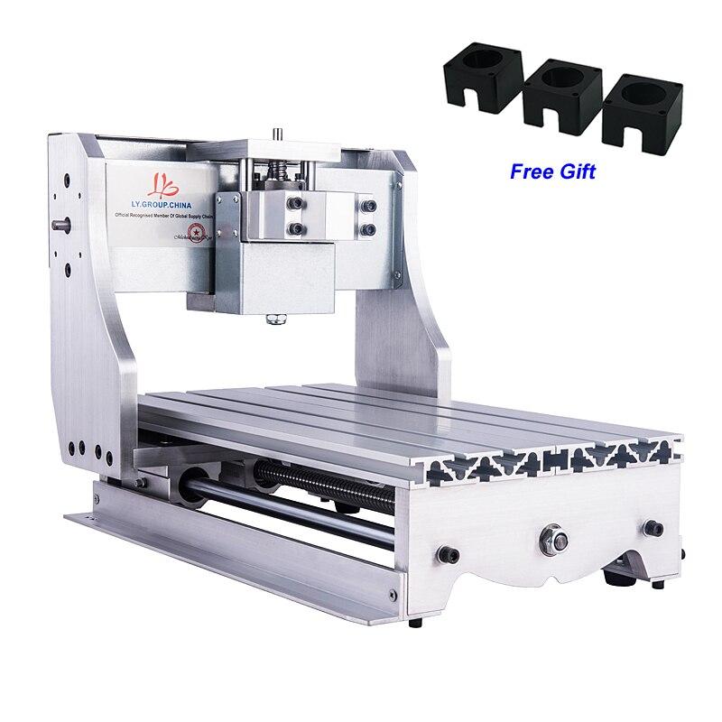 CNC Gravure Machine Cadre Kit pour CNC Routeur 3020 avec 3 pièces de Moteur pas à pas de Support