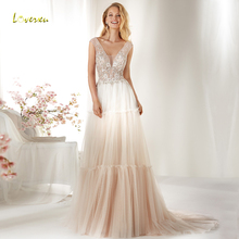Loverxu Wedding Dress Cap Sleeve Bride Dresses Court Train