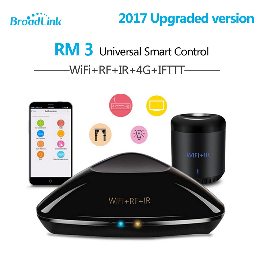 2017 Broadlink RM3 RM03 RM Pro Mini 3 Black Bean RMPro Universal Smart Home Wifi Switch Remote WiFi/IR/RF Controller Domotica free shipping 2017 broadlink rm pro rm03 smart home automation wifi ir rf universal intelligent remote control switch for