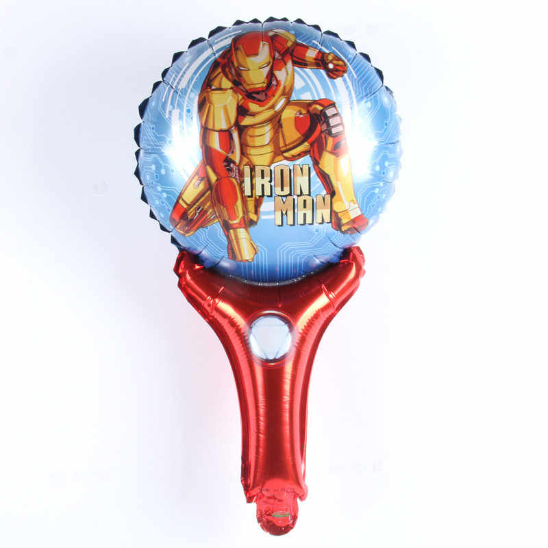 1pcs/lot Avengers balloons iron Man foil balloon Birthday Party decorations kids hand hold stick inflatable globos gift toys
