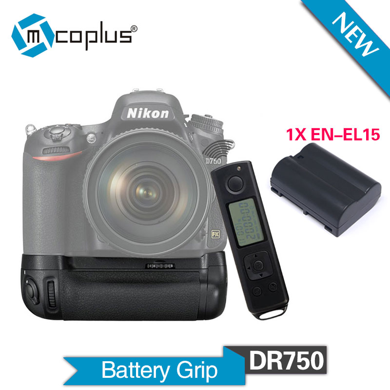 Mcoplus Venidice VD-DR750 with 1pcs EN-EL15 Batteries for Nikon DSLR D750 Camera as MB-D16 with 2.4G Wireless Remote Control meike mk dr750 mb d16 built in 2 4g wireless control battery grip for en el15 nikon d750 dslr camera