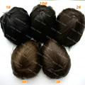 Stock Los Angeles Jet Black 100% Remy Hair Mens Toupee Hair Replacement System Men Hair Pieces 130% Density H008