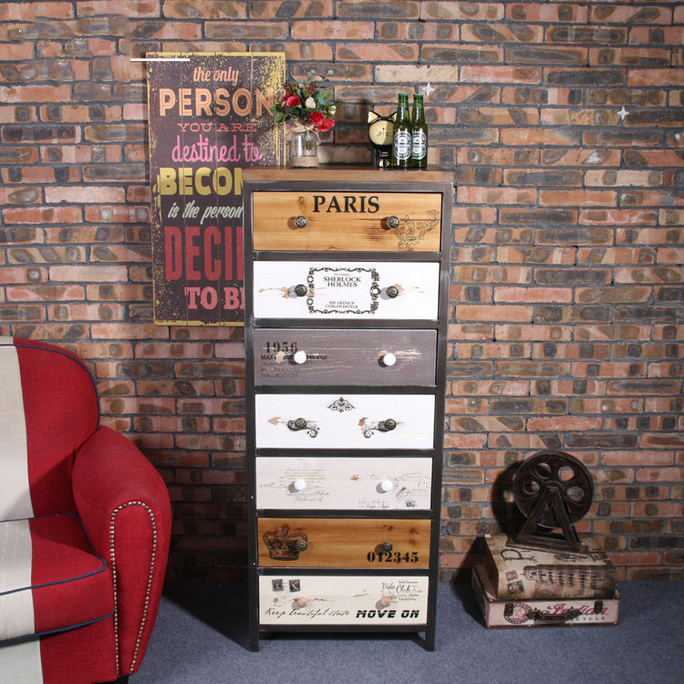 Creative Wrought Iron Cabinet Clothing Store font b Closet b font Storage Box Cabinet Cosmetics Desktop