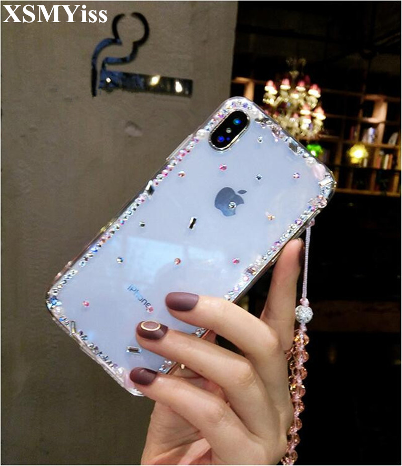 Phone Case For Xiaomi 5X 6X 8 9 SE Lite Max2 For Redmi Note 4X 5A 5 6 7 Pro Bling Diamond Soft Transparent Crystal Phone Cases
