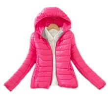 2016 детская одежда зима девушки куртки и пальто хлопка мягкой девочек-подростков зимнее пальто с капюшоном твердые дети верхняя одежда детский зимний комбинезон