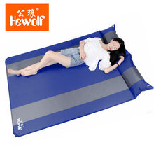 Hewolf double inflatable cushion widening and thickening outdoor moisture nap bed mattress(China)