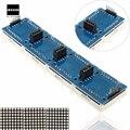 Hot Sale MAX7219 Microcontroller 4 In 1 Display 5P Line 8x8 Dot Matrix Module For Arduino 5V 12.8x12.8x1.3cm Module Modules