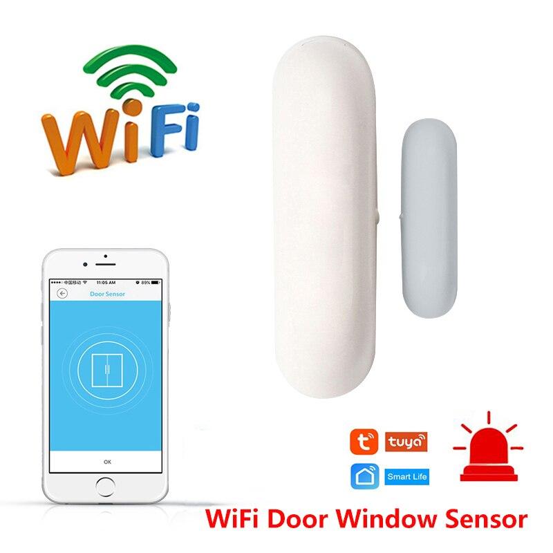 Vie intelligente WiFi porte fenêtre capteur intelligent domotique alertes capteur de sécurité anti-vol système d'alarme Compatible Alexa Google